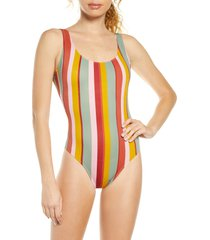 women's madewell second wave tank tie dye one-piece swimsuit, size x-small - coral