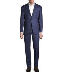 hickey freeman men's mulburn wool suit - blue - size 40 r