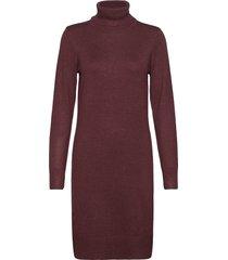 u6801, milasz rollneck dress knälång klänning röd saint tropez