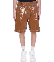 gcds shorts in brown polyuretan