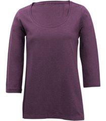 shirt met ronde hals voor haar, aubergine 44