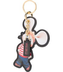 alberta ferretti cartoon motif key chain - red
