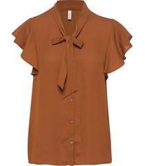 sc-cemre blouses short-sleeved brun soyaconcept