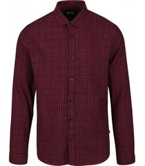 only & sons slim fit overhemd flannel valt kleiner