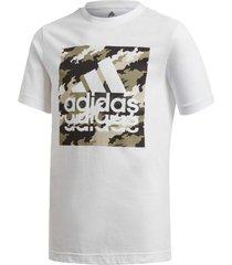camiseta adidas estampada branco - branco - menino - dafiti