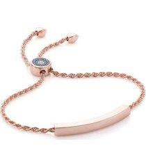 women's monica vinader engravable linear evil eye diamond bracelet