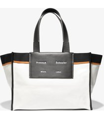 proenza schouler white label xl morris coated canvas tote offwhite/black one size