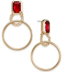 thalia sodi gold-tone crystal & hoop drop earrings, created for macy's