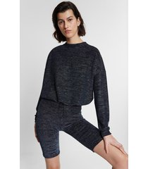 lurex sweatshirt - blue - l