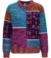 patchwork sweater in jacquard mohair m missoni