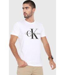 camiseta blanco-negro calvin klein
