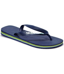 brasil logo flip flop shoes summer shoes flip flops blå havaianas