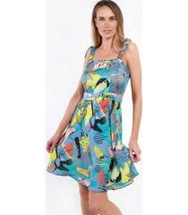 mini vestido estapado paola celeste night concept