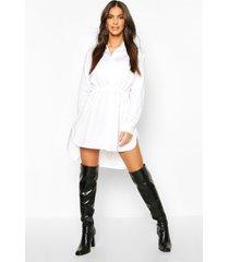 blousejurk met koord, wit