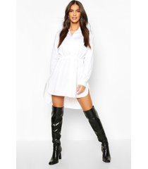 blouse jurk met touwtjes, wit
