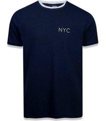t-shirt new era regular new era brasil azul marinho - azul marinho - masculino - dafiti