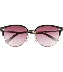 ted baker london 52mm round sunglasses in black/brown at nordstrom