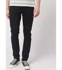 nudie jeans men's lean dean tapered jeans - dry ever black - w34/l32