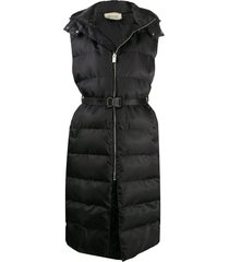 1017 alyx 9sm buckle-waist longline quilted gilet - black