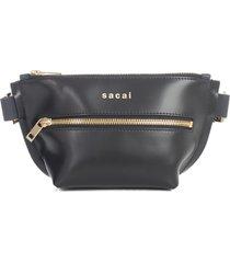 sacai trapezoid wallet pouch