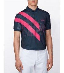 boss men's paddy stretch jersey polo shirt