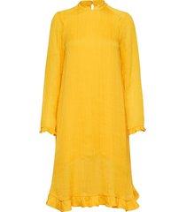 pretty dipsy jurk knielengte geel mads nørgaard