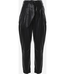 for love & lemons dillon faux leather trousers