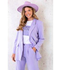 ultra oversized blazer lila