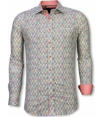 overhemd lange mouw tony backer blouse pastel flower pattern