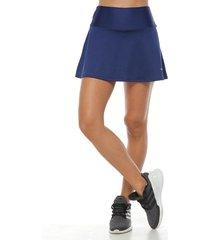 falda deportiva con licra interior,  color azul oscuro  para mujer