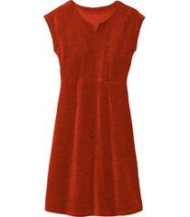 velours jurk, klei 44