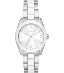 dkny women's nolita two-tone stainless steel bracelet watch 34mm