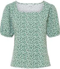 bellissima maglia in cotone biologico con maniche a palloncino. (verde) - bodyflirt