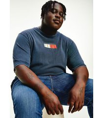 tommy hilfiger men's big and tall organic cotton vintage flag t-shirt twilight navy - 5xl