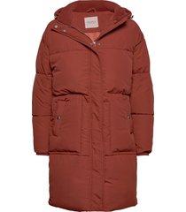 kira over d padded coat gevoerde lange jas rood sparkz copenhagen