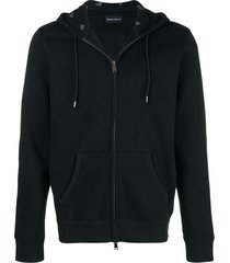 emporio armani basic hooded jacket - black