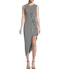 vertigo stripe asymmetric dress
