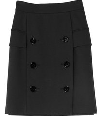 emotional essence skirt in pure black