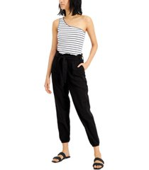 inc cotton paperbag pants, created for macy's