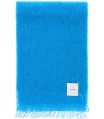 gm77 colour block mohair scarf