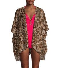 leopard-print coverup