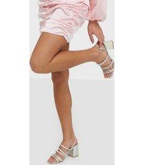 only onlamanda mirror string heeled sand high heel