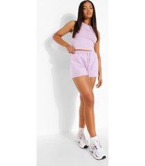 vlinder sweat shorts met steentjes, lilac