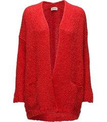 boolder stickad tröja cardigan röd american vintage