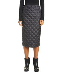 women's moncler quilted down midi skirt