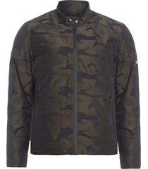 jaqueta masculina biker camuflado - verde