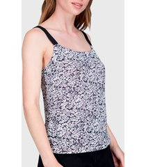 blusa ash top fantasía bicolor fucsia - calce regular