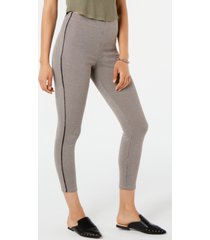 hue houndstooth knit high-waist cropped skimmer leggings