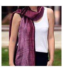 silk batik scarf, 'orchid duality' (thailand)