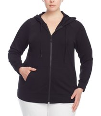 plus size serenity knit zippered hoodie